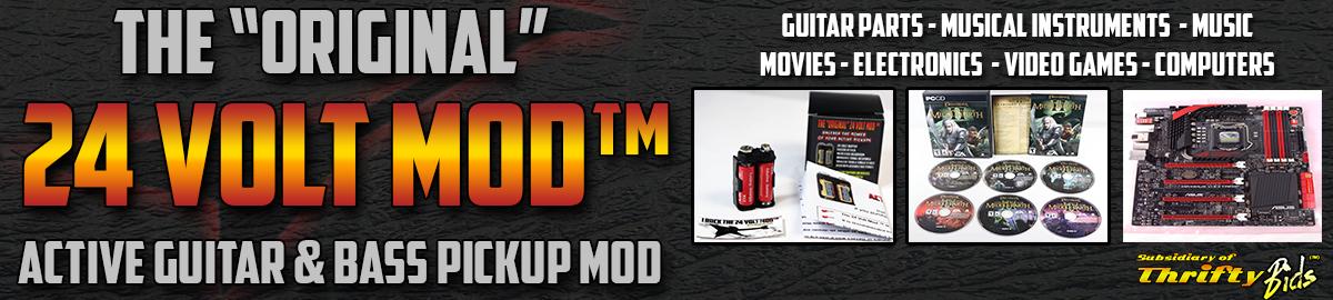 24 Volt Mod™ Guitar Parts and More