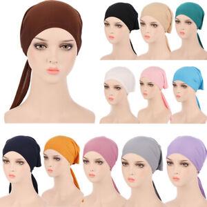 Elastic Women Head Wrap Bonnet Hat Muslim Underscarf Hijab Turban Hat Beanie Cap