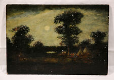 Unauthenticated 19th Cen. Landscape Indian Encampment Oil Blakelock (American)