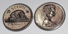 Canada 1965 5 cents Nice UNC Five Cents Canadian Nickel