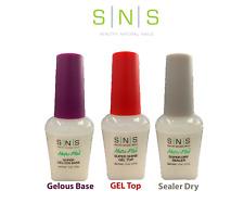 SNS Liquid Set - Gel Top + Gelous Base + Sealer | 3 Pc Nail Kit | Dipping System