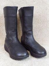 Skechers Shape-Ups XF Freestyle Black Leather Toning Boots 24862, US Women's 7.5