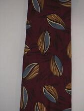 Hickok Men's 100% Silk Tie Necktie Blue Gold Maroon Great Condition!