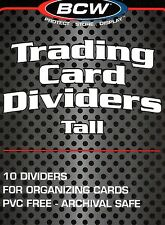 20 White Plastic TALL Card Dividers for Sport Gaming Trading Card Boxes - New