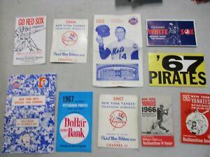 10 1960's MLB Baseball Schedules