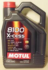 Motul 8100 Xcess 5W40 Engine Oil 5L for Volkswagen Skoda Audi VW Porsche Holden