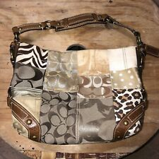 "Coach Patchwork Purse Tote B0793-10814 Leather Shoulder Bag. 13""L x 4""W x 8 1/2"""