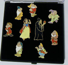 Disney Cast Member Exclusive Snow White 9 Pin Set Hag Grumpy Dopey Doc Sneezy