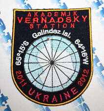 PATCH AKADEMIK VERNADSKY STATION 2011 UKRAINE 2012 ANTARCTIC GALINDEZ ISLAND