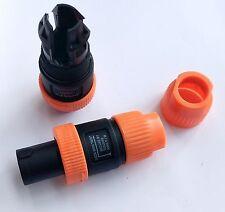 10 Pcs Speakon 4 Pin Male Plug Compatible Audio Cable Connector Red Color SL5288