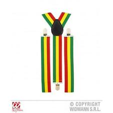 JAMAICA Giamaica da Uomo Da Donna Bretelle Fancy Dress Costume Giarrettiere