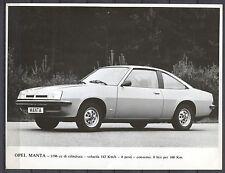PRESS - FOTO/PHOTO/PICTURE - Opel Manta 1976