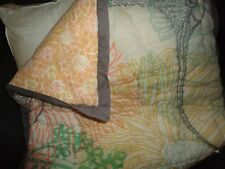 Urban Outfitters Boho Gray Green Coral Floral (1) Euro Pillow Sham 26 X 26