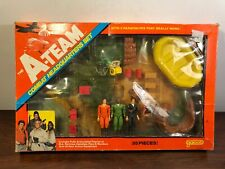 Vintage 1983 Galoob A Team Combat Headquarters Set W Action Figure In Box 8454