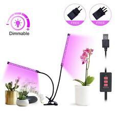 LED Grow Light Plant Lights Growing Lamp Timer Function 3/6/12H Dimmable 18W Dua