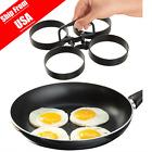 Nonstick 4-Piece Egg Pancake Ring Set 995 Nonstick Removable Rings USA Stock