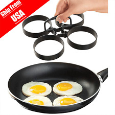 Nonstick 4-Piece Egg Pancake Ring Set 995 Nonstick Removable Rings USA Stock