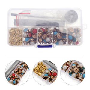 1 Set Colorful Useful Leather Craft Rivets Leather Handbag Rivets with Tools