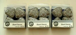 Set of 12 Wilton Heart Shaped Favor Boxes - Holds Treats for Your Wedding Guests