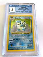 Blastoise Pokemon Card Base Set Holo 2/102 CGC 8 NM/Mint (PSA/BGS) WOTC Subgrade
