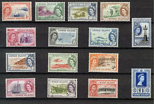CAYMAN ISLANDS 1953-1959 DEFINITIVES SG148/161a MNH