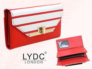 New LYDC London Stripe Purse Womens Zipped Coin Notes ID Card Holder Wallet Gift