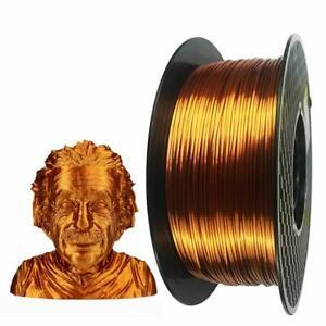 PETG 3D Printer Filament 1.75 mm Strong 3D Filament 1KG Spool(2.2lbs) Bronze