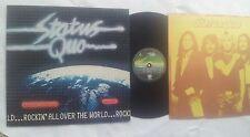 STATUS QUO ROCKIN ALL OVER THE WORLD GERMAN 12 INCH VINYL LP ORIGINAL 1977