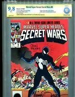 Marvel Super Heroes Secret Wars 8 CBCS 9.8 CGC Venom Symbiote Signature Seriesx2