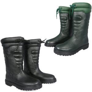 Original Derri Boots Black Green Lined Biker Waterproof UK 3 - UK 12