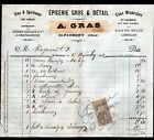 """SAINT-FLORENT-sur-CHER (18) EPICERIE & VINS """"P. TAPIN / A. GRAS Succ"""" 1902"""