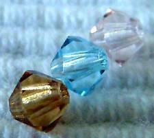 Melone 30 x Böhmische Glasperlen 10 mm türkis-braun; *3240
