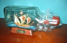 "Ship in a Bottle COLUMBUS Historic SHIP ""Pinta"" New Old Stock from 90s"