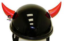 Helmet Horns Devil Red Stick On Horns For Motorcycle Bike Ski Snowboard Helmet