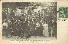 ALGERIE BONE CARTE POSTALE CONCOURS DE MUSIQUE 1908
