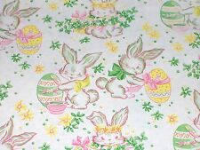 "Vtg Easter Bunny Dept. Store Wrapping Paper Gift Wrap 20"" x 26"" Eggs 1940's"