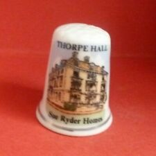 THORPE HALL Sue Ryder Home Thimble Peterborough Rosemary for Rememmbranc on back