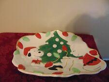 Lenox Peanuts Snoopy's Christmas Canape Plate & Candy jar