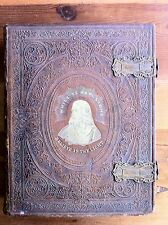 HOLY BIBLE 1860 OLD & NEW TESTAMENTS Perry's Bible Manufactory LEATHER Gorgeous!