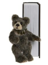 NEW! 2019 Charlie Bears SNEAKY PEEK Brown Library Book Bear (Brand New Stock!)