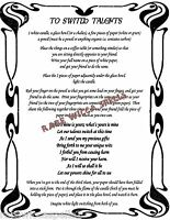 Switch Talents Spell 1pg Wicca Book of Shadows Pagan Witchcraft Magic Rituals