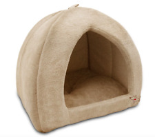 Durable Dog Beds for Large Dogs Pets Warm Puppy Covered Pet Tan Dog Tent Bed New