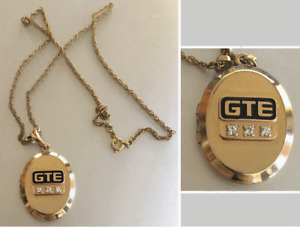 Vintage GTE  Service Award Necklace & Locket: General Telephone & Electronics)