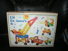 RED BOX L'IL  ENGINEERS 118 PIECE SET, DESIGNED FOR AGES 3+