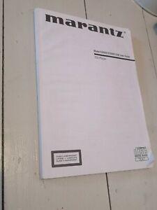 Marantz Model CD5001 CD5001OSE user guide manual Instructions booklet book