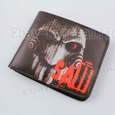 Movie Saw Billy the Puppet PU Synthetic Leather Short Purse Wallet