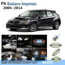 For 2004-2014 Subaru Impreza WRX STI Xenon White LED Interior Lights Kit 7 Piece