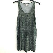 b71d6e27038 Merona women s XXL romper cinched waist pockets rayon green sleeveless