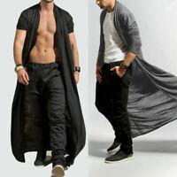 New Full Loose Coat Cloak Cape Cardigan Long Length Adult Baggy Tops Casual Men