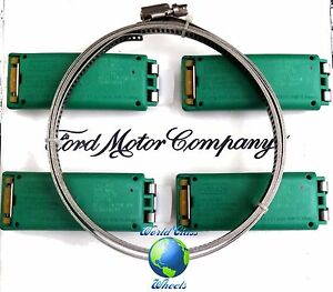 FORD SUPER DUTY OEM GREEN HI- PRESSURE TPMS SENSORS SET OF (4) 8C2Z-1A189-A NEW